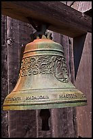 Bell with inscriptions in Cyrilic script, Fort Ross Historical State Park. Sonoma Coast, California, USA ( color)