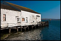 Wharf building, Bodega Bay. Sonoma Coast, California, USA ( color)