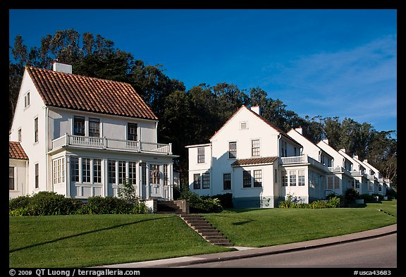 Former military residences, the Presidio. San Francisco, California, USA (color)