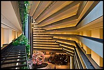 Modernistic architecture, Hyatt Grand Regency. San Francisco, California, USA ( color)