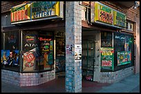 Corner grocery and liquor store, Mission District. San Francisco, California, USA (color)