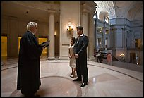 Civil wedding, City Hall. San Francisco, California, USA (color)