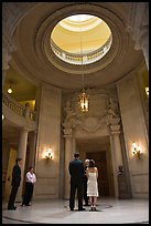 Wedding in the City Hall rotunda. San Francisco, California, USA