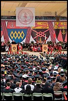 Justice Anthony Kennedy address new graduates at commencement. Stanford University, California, USA (color)