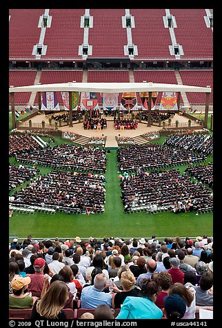 Class of 2009 commencement. Stanford University, California, USA