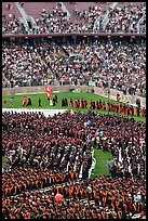 Graduates, exiting faculty, and spectators, commencement. Stanford University, California, USA (color)