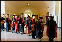 Graduates in academical regalia inside Memorial auditorium. Stanford University, California, USA ( color)