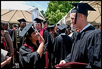 Students after graduation ceremony. Stanford University, California, USA