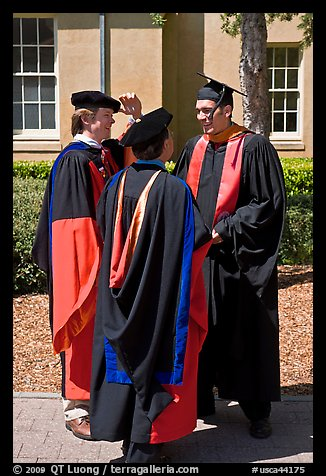 Academics in traditional dress. Stanford University, California, USA (color)