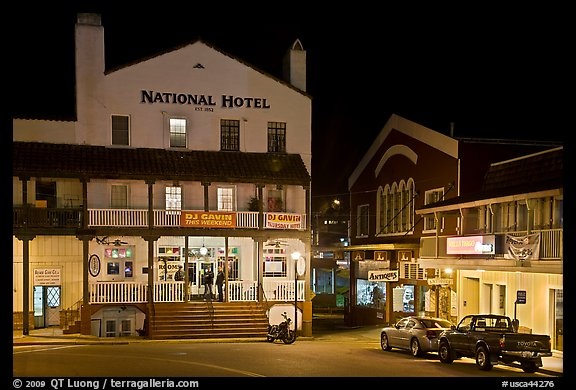 National Hotel By Night One Of California Oldest Jackson Usa