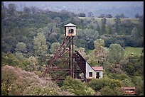 Hills and Kennedy Mine structures, Jackson. California, USA (color)