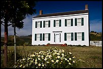 The White House of Half Moon Bay, James Johnston Homestead. Half Moon Bay, California, USA (color)