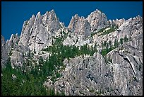 Castle Crags, Castle Crags SP. California, USA (color)