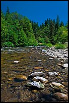 Clear Sacramento River, Castle Crags State Park. California, USA ( color)