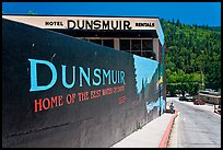 Home of the best water on earth mural, Dunsmuir. California, USA (color)