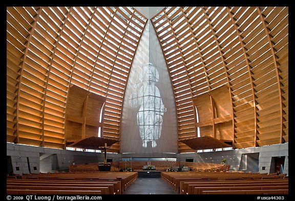 Inside of Cathedral of Christ the Light. Oakland, California, USA (color)