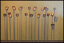 Modern candle holders, Christ the Light Cathedral. Oakland, California, USA (color)