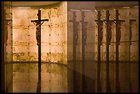 Christ and reflections, mausoleum, The Cathedral of Christ the Light. Oakland, California, USA ( color)