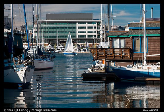 Yachts and houseboats, Alameda. Oakland, California, USA