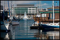 Yachts and houseboats, Alameda. Oakland, California, USA (color)