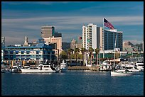 View of Oakland harbor and Jack London Square. Oakland, California, USA ( color)