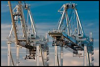 Container cranes, Port of Oakland. Oakland, California, USA ( color)