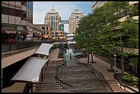 City center shopping mall, downtown. Oakland, California, USA ( color)