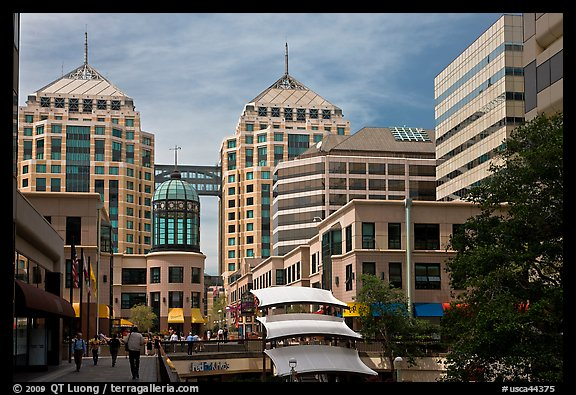 City center mall and Federal building. Oakland, California, USA (color)