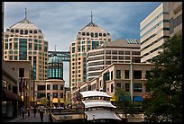 City center mall and Federal building. Oakland, California, USA ( color)