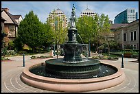Fountain, Preservation Park. Oakland, California, USA (color)