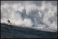 Mavericks big wave surfing. Half Moon Bay, California, USA (color)