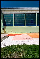 Sidewalk and industrial building facade. Berkeley, California, USA ( color)