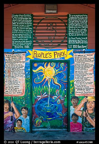 Peoples Park mural. Berkeley, California, USA (color)