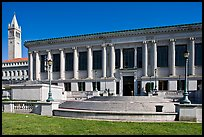 Library and Campanile, University of California. Berkeley, California, USA (color)