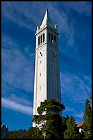 Campanile Tower, University of California at Berkeley. Berkeley, California, USA (color)