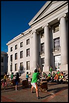 Drummers in front of Sproul Hall. Berkeley, California, USA