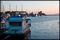 Berkeley Marina at sunset. Berkeley, California, USA