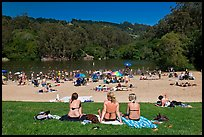 Sunbathing, Lake Anza, Tilden Regional Park. Berkeley, California, USA ( color)
