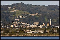 Berkeley hills seen from the Bay. Berkeley, California, USA ( color)