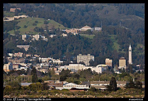 Buildings and hills in spring. Berkeley, California, USA (color)
