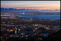 University and city at sunset. Berkeley, California, USA