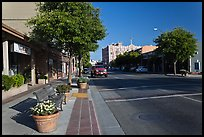 Main street. Watsonville, California, USA (color)