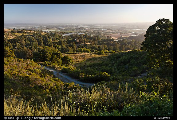View from Heckler Pass road. Watsonville, California, USA (color)