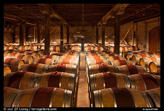 Wine cellar Hess Collection winery. Napa Valley California USA & Picture/Photo: Wine cellar Hess Collection winery. Napa Valley ...