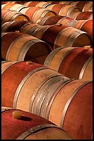 Oak barrels, Hess Collection winery. Napa Valley, California, USA (color)