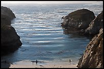 China Cove with people from above. Point Lobos State Preserve, California, USA