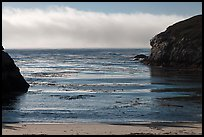 Marine layer offshore China Cove. Point Lobos State Preserve, California, USA ( color)