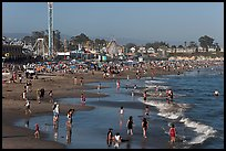 Beach on summer day. Santa Cruz, California, USA (color)