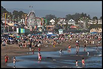 Popular beach in summer. Santa Cruz, California, USA (color)