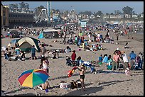 Beach scene in summer. Santa Cruz, California, USA ( color)